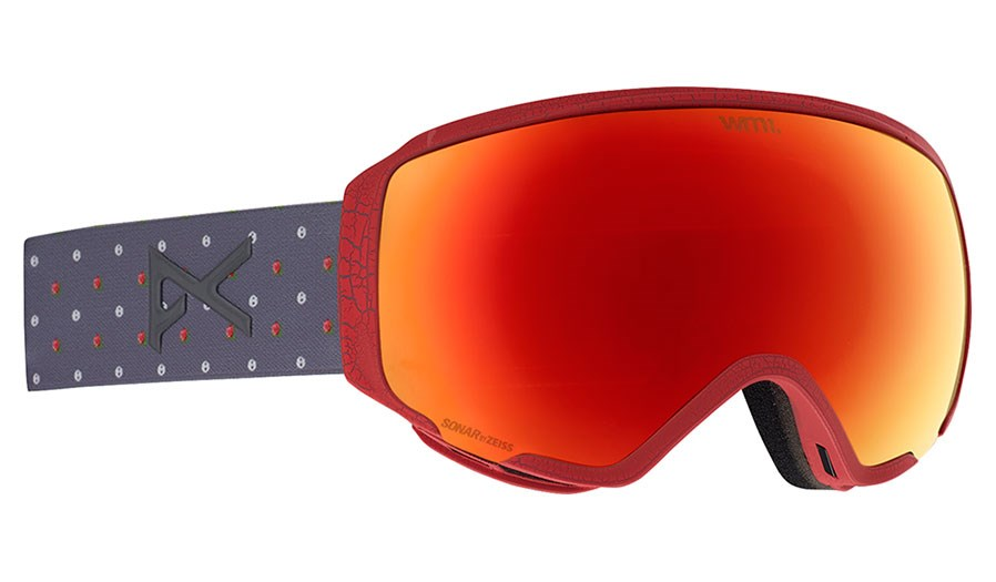 f173a30f2efb Anon WM 1 Ladies Snow Goggles S and R   SONAR Red with Spare Lens ...