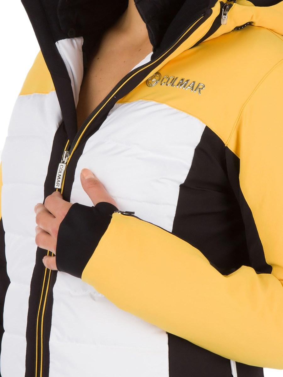 46a68d9c50 Colmar Montana Ladies Fur Ski Jacket Mustard Black £370.00