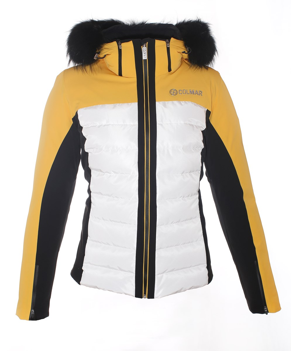 addd207fde Colmar Montana Ladies Fur Ski Jacket Mustard Black £370.00
