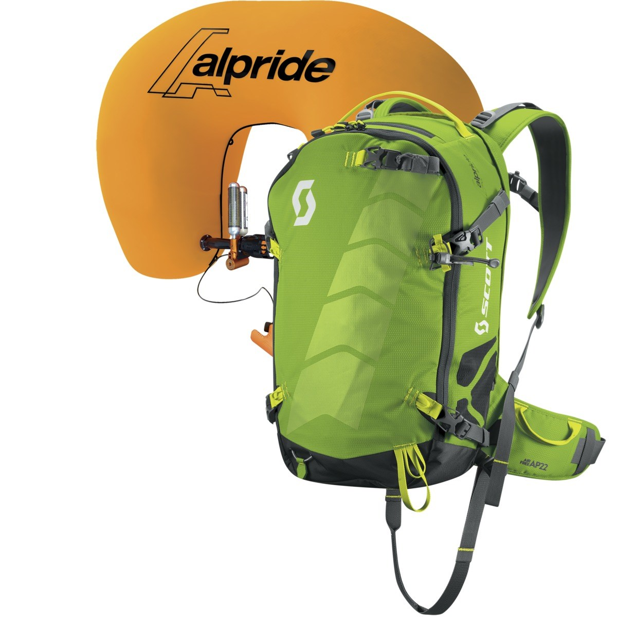 Scott AirFree AP 22 Avalanche Airbag System Apple Green Grey £530.00 4c000949de183