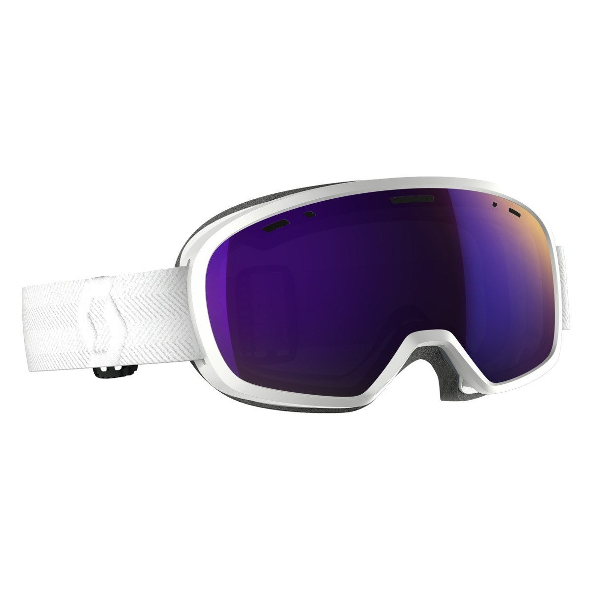bc77f94fbc Scott Buzz Pro Junior Goggle White   Amplifier Purple Chrome Lens. 0