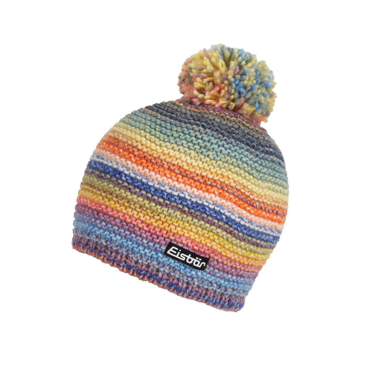 226f4fe13f0 Eisbar Kunita Ladies Pompom Hat Blue   Multi. 0 (Be the first to add a  review!)