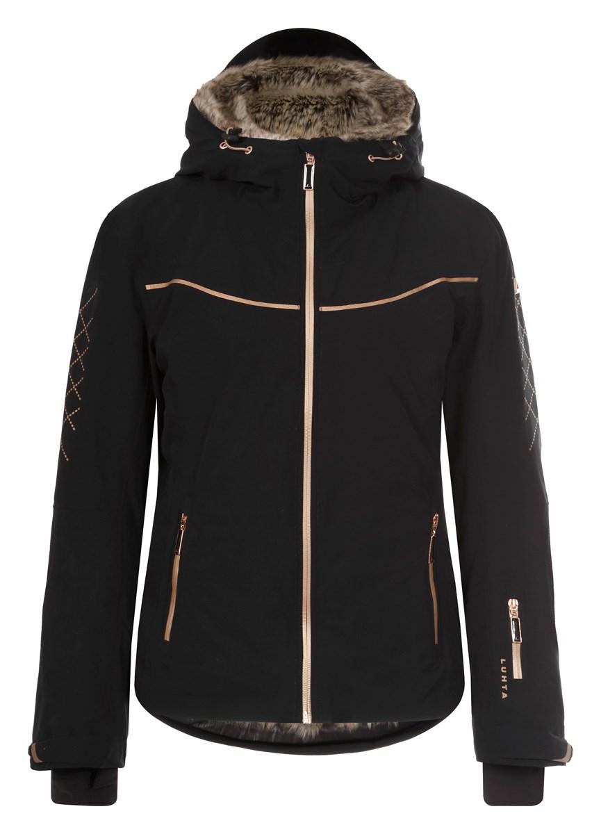 0aaf0a13e Luhta Gabriella Ladies Fur lined Ski Jacket Black