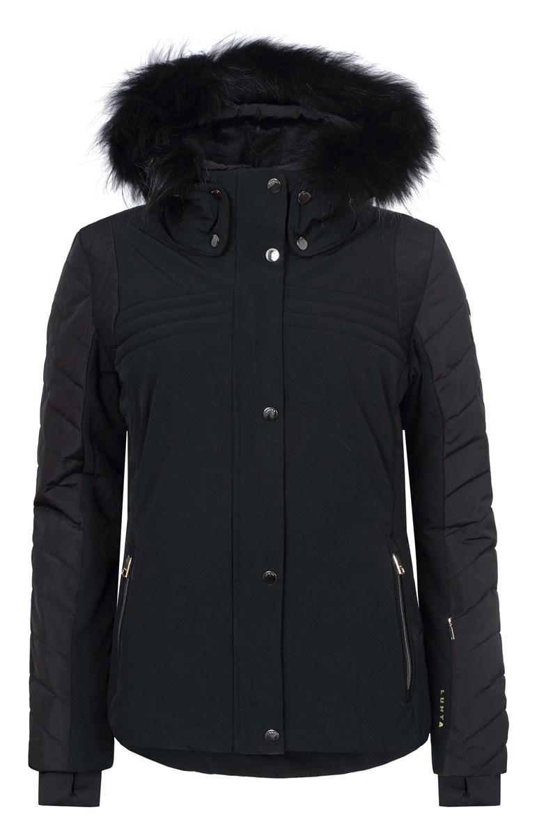 Luhta Bettina Ladies warmest insulated fur trim ski jacket Black £240.00 b2367ffad