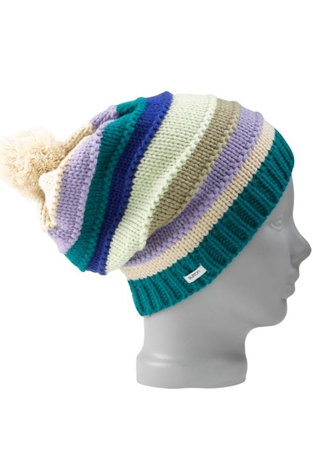 c086afbef7d Burton Candy Stripe Ladies Knit Beanie Hat Jade Green. 0 (Be the first to  add a review!)