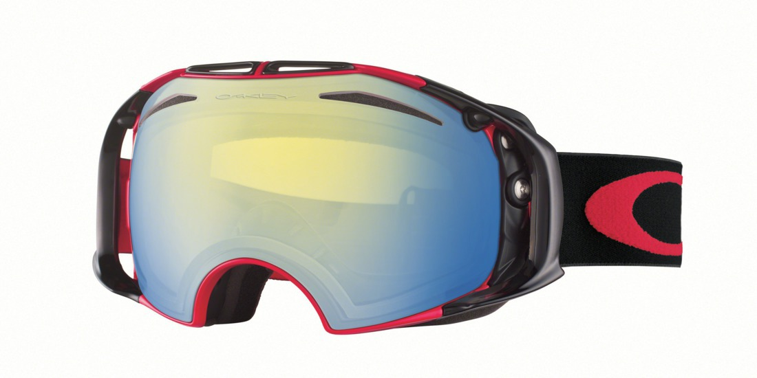red oakley goggles  Oakley Airbrake Snow Goggle HI Yellow and Dark Grey lens 拢185.00
